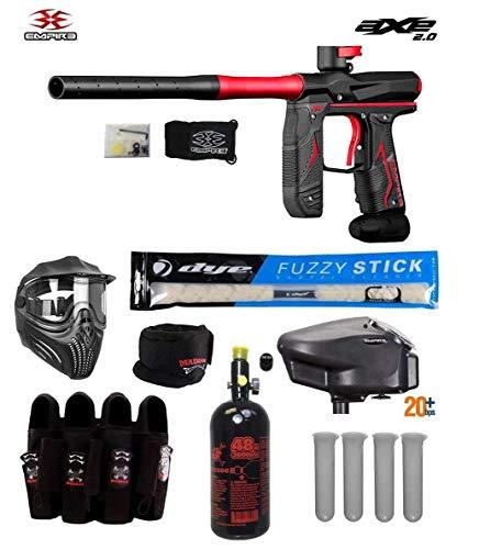 MAddog Empire Axe 2.0 Tournament Elite Paintball Gun Package B (Dust Black/Dust Red)