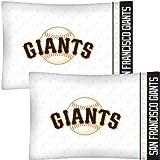 : MLB San Francisco Giants Baseball Set of 2 Logo Pillow Cases