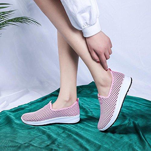 Respirables Mujer Planos Señoras Zapatos Punto Zapatos amp;G Zapatos Pink Ocasionales Damas De Hacen Que NGRDX Deportivos YqwIBtx