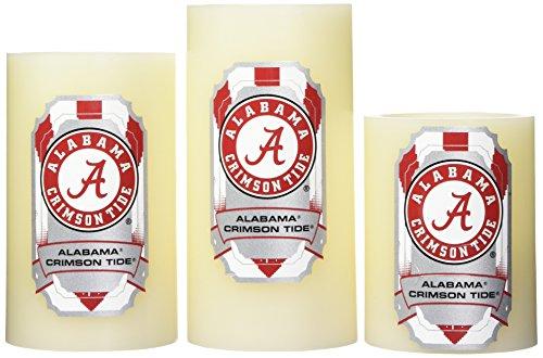 Alabama Crimson Tide Remote - NCAA Alabama Crimson Tide LED Light Candle Gift Set (3 piece)