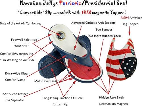 Hawaiian Jellys Nytt! Konvertibla Patriotiska (röd / Vit / Blå) Glider ... Aaahs