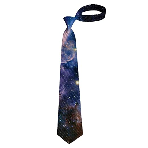 884d0599b025 Men's Gift Printed Tie, Galaxy Skinny Necktie Tie, Graduation Party Dress  Tie