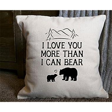 I Love You More Than I Can Bear PillowcasecÁE Valentine Pillowcase Cover Children Room Pillowcase Bear Pillowcase Home Decor Nursery