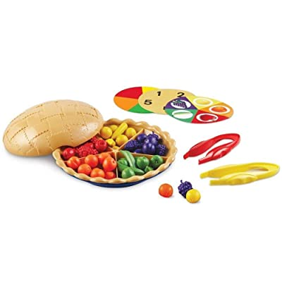 Learning Resources Super Sorting Pie, Fine Motor Toy, Early Number, Patterns, 68 Pieces, Grades Pre-K/Ages 3+: Toys & Games