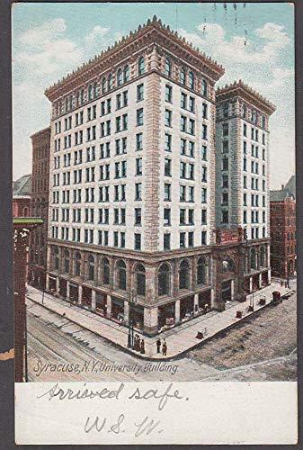 The University Building at Syracuse NY undivided back postcard 1906