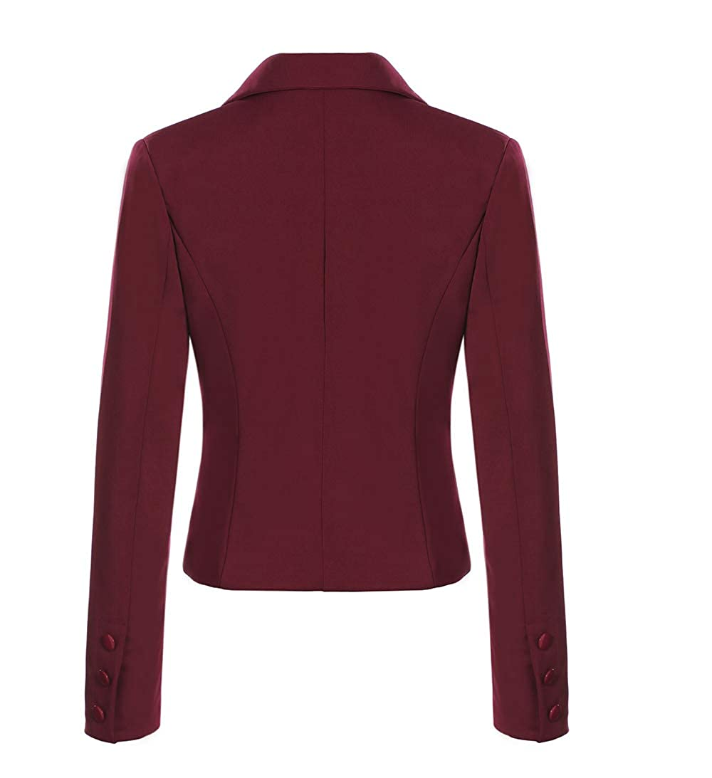 6672ba59e019e SEBOWEL Womens Formal Two Button Slim Fitted Office Work Blazers Jackets  Suits S-US-