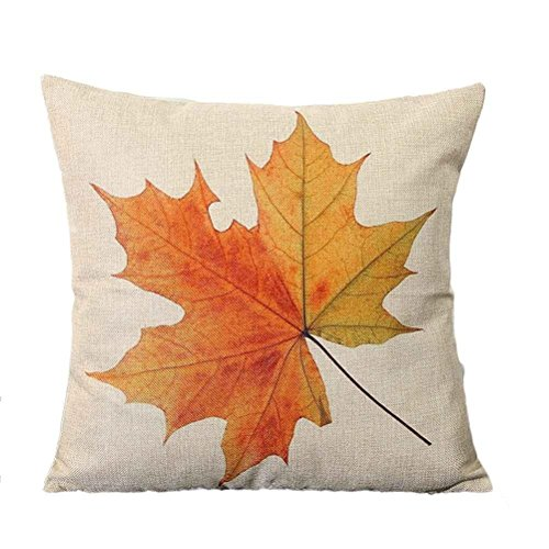 Maple Leaf pillow, Laimeng Home Car Bed Sofa Vintage Decorative Cushion Cover