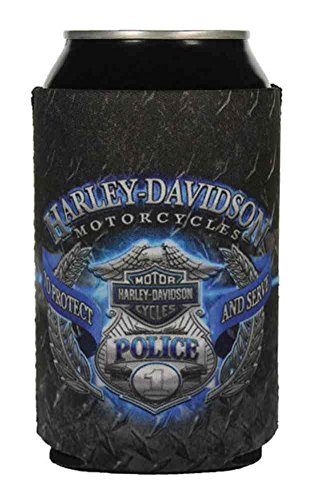 Harley-Davidson Police Original Can Flat, Black & Blue Neoprene