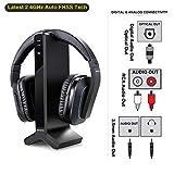Wireless Stereo TV Headphones, Artiste D1 2.4GHz...