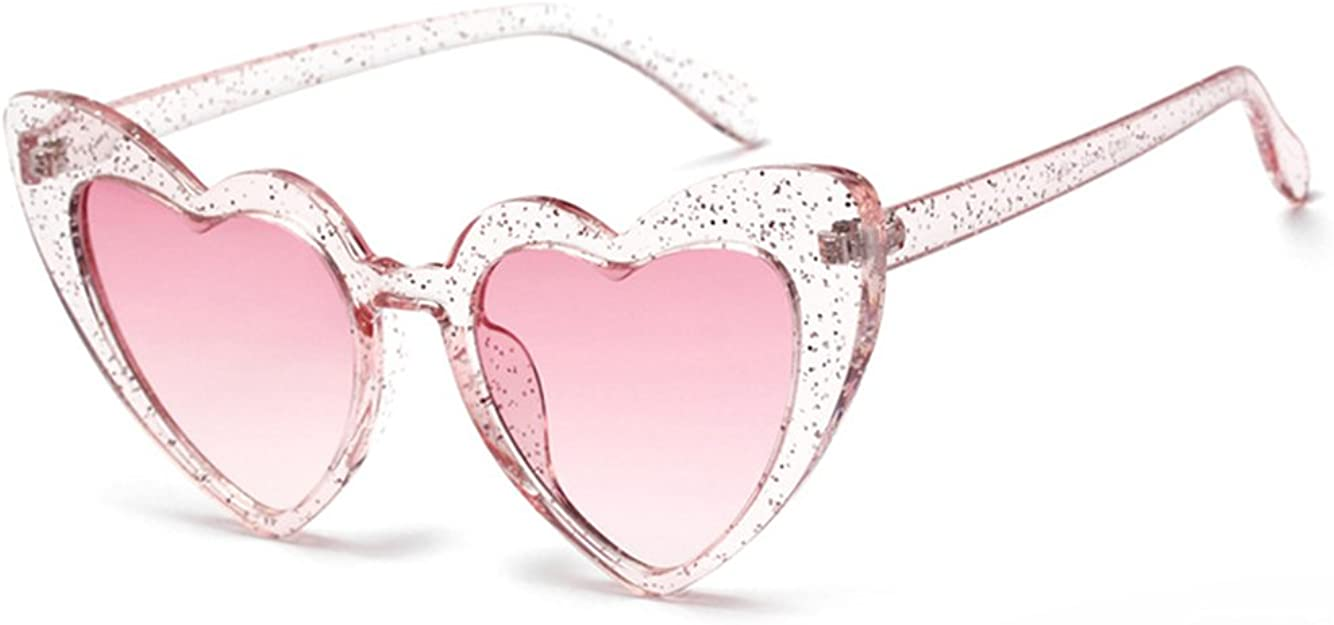 Parties Street Shooting Black-Lens Transforms The Light Into a Peach Heart Shape Ballroom Suitable for Beach Crazy rice Heart Shaped Special Effect Sunglasses for Woman Pink