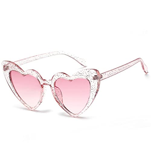 6d969fdf8c0 Love Heart Shaped Sunglasses Women Vintage Cat Eye Mod Style Retro Glasses  (babipink