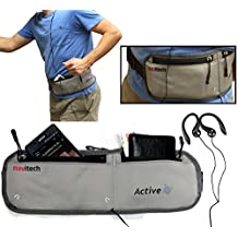 Navitech Grey MP3/MP4 Running / Jogging Water Resistant Sports Belt / Waistband For the Apple iPod classic 160 GB