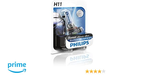 Amazon.com: Philips H11 Blue Vision Ultra Automotive Headlight. 12v 55w. 12362bvu.: Automotive
