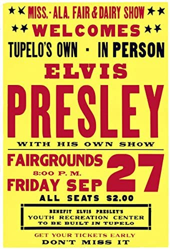 ELVIS PRESLEY  The King Of Rock /& Roll   Canvas Wall Art A3