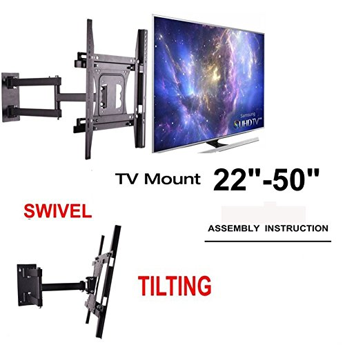 articulating-led-lcd-tv-wall-mount-bracket-22-50-inches-full-motion-tv-bracket-for-tcl-sony-hisense-