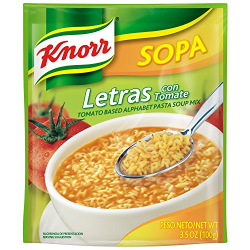 Knorr Sopa Pasta Soup Mix, Alphabet Pasta Tomato 3.5 oz (Pack of 12)