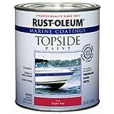 Rust-Oleum 207004 Marine Topside Paint, Bright Red, 1-Quart