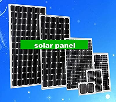GOWE 4 pcs 50W mono 18V DC solar PV panels for 12V solar system, solar road lights