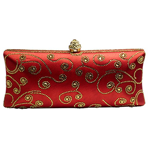 Red Bag DMIX Clutch Box Evening Crystal and qpgpRFw