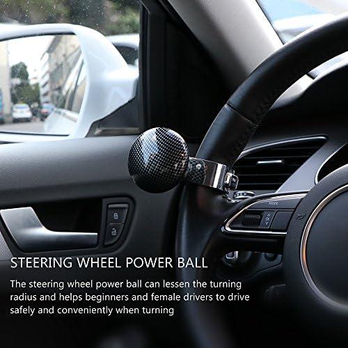 Onever Auto Lenkrad Spinner Regler Macht Griff Kugelhandsteuerung Kugel Auto Griff Knopf Helper Drehen Auto