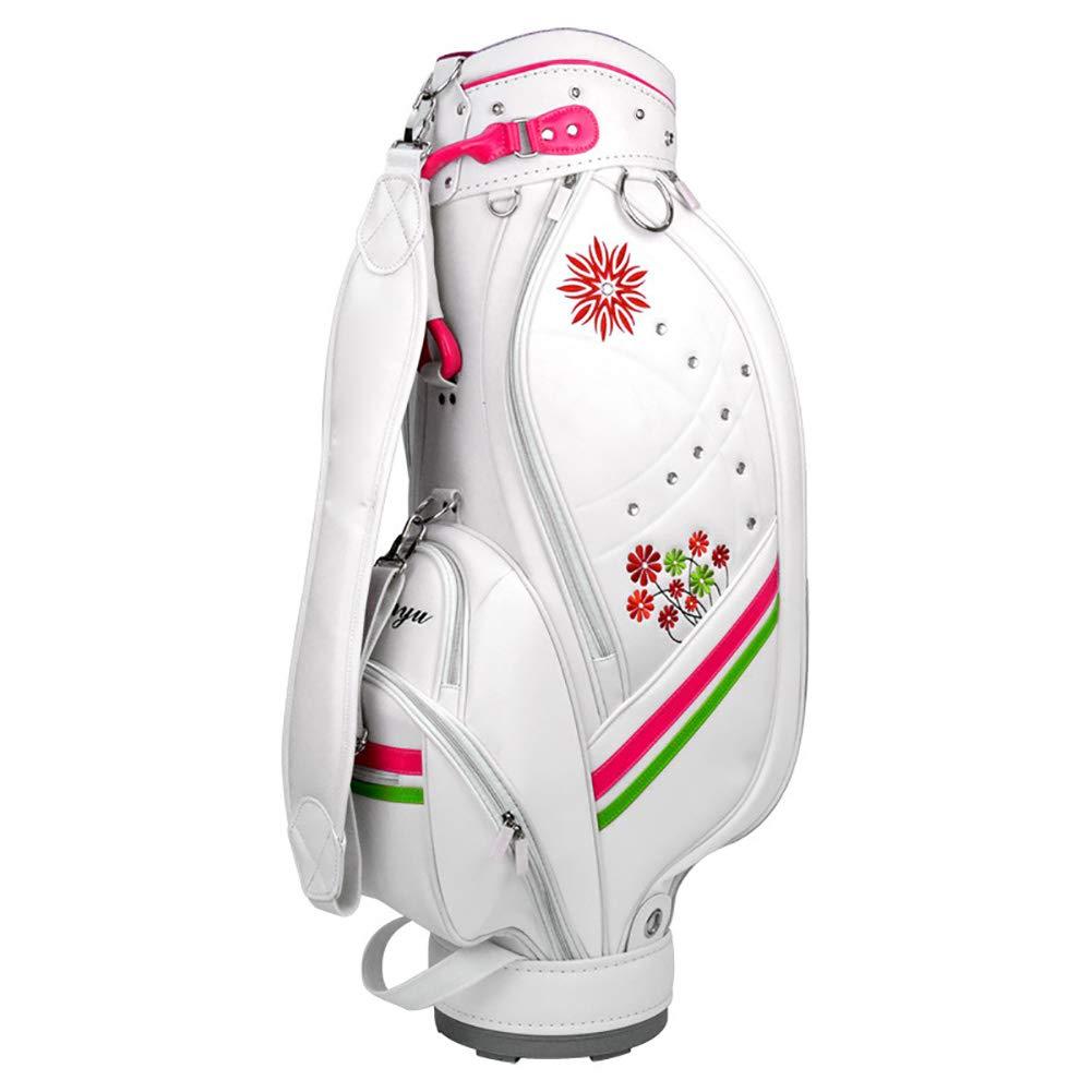 女性用ゴルフPUクラブバッグ、ポータブルゴルフバッグスーツケース、手袋、クラブ、ボールキャップなどのためのスペースが十分にある複数のコンパートメント B07TDKWCY1