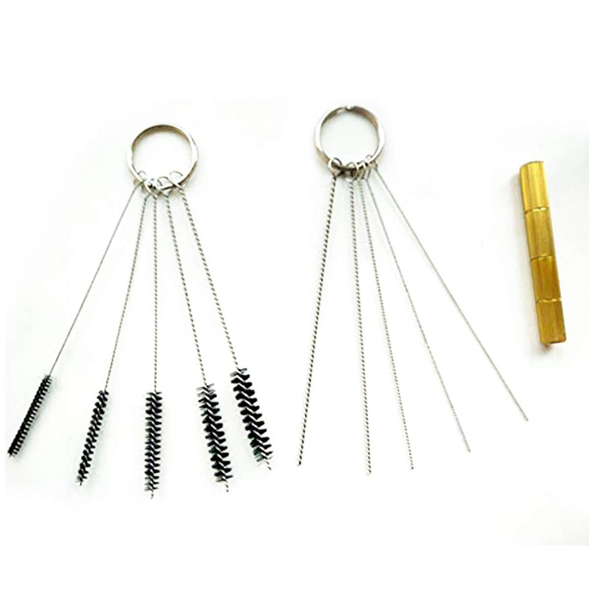 Yinroom Carburetors Carbon Dirt Jet Remove Cleaner Tool Kit ,11Pcs Motorcycle Carb Brush Tool Jet Nozzle Wire Terminal Plug Cleaning Needle Brush Kit for Motorcycle ATV Moped Welder Carb