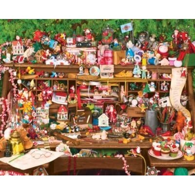 Keepsakes On Santas Desk 1000pc Jigsaw Puzzle By Springbok By Springbok
