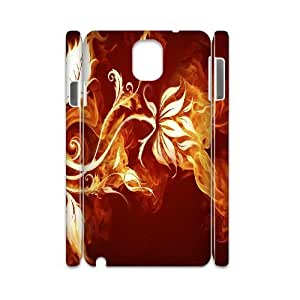 ZK-SXH - Fire Flower Custom 3D Case Cover for Samsung Galaxy Note 3 N9000, Fire Flower DIY 3D Phone Case