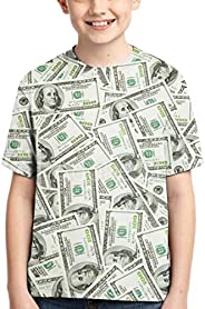 3D Printed Americathe United States USA Dollar Money Coin Short Sleeves T-Shirt Fashion Youth Tee Shirts