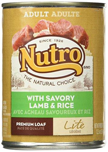 Nutro 50411573 Lite With Savory Lamb Rice Can Dog Food, 12 Ea 12.5Oz