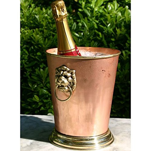 Lionshead Copper Champagne Bucket by Old River Road