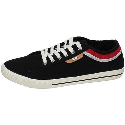 XTI 27416 Zapatillas DE Lona Hombre Zapatillas Negro 41: Amazon.es: Zapatos y complementos