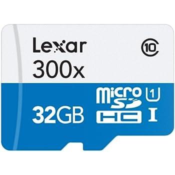 Lexar High-Performance MicroSDHC 300x 32GB UHS-I/U1 w/Adapter Flash Memory Card - LSDMI32GBB1NL300A