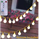[Remote & Timer] 33ft Outdoor Globe String Lights LED Fairy Twinkle Lights with Remote & Timer-UL Listed for Festoon Party/Garden/Wedding Decor, Warm White