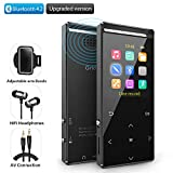MP3 Player2018New 8GB Bluetooth MP3 Digital Music Player with FM Radio, Voice Rocorder, Pedometer,HiFi Lossless Stereo Sound Metal Sport Player with Armband, Earphone, USB Cable