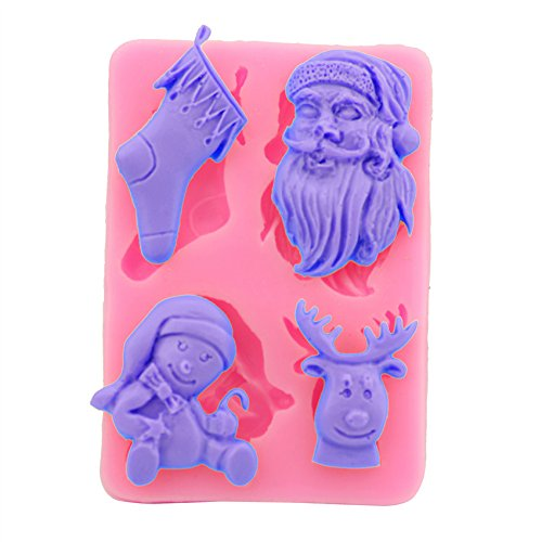 Let'S Diy Santa Sock Deer Molds For Fondant Sugar Jello Jelly Ice Soap Cake Decorating Tools Silicone -