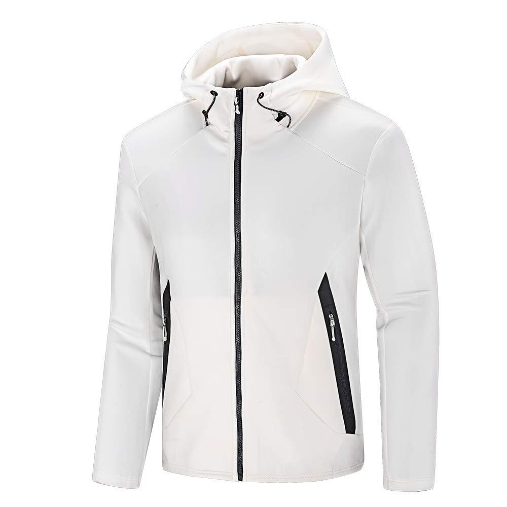 NIUDI Full Zip Up Hoodies for Men Windbreaker Athletic Jacket Hooded  Sweatshirt for Cycling Hiking Running a27fb5d6660