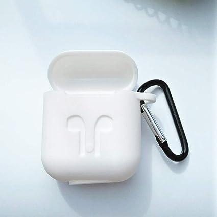 Delleu - Auriculares inalámbricos con Bluetooth para Apple con protección contra los Airpods Blanco Blanco