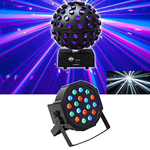 American DJ ADJ Starburst LED Sphere Shooting Beam Lighting Effect+Wash Light
