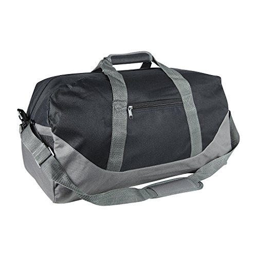 "UPC 812822023309, 21"" Large Duffle Bag with Adjustable Strap (Black-Gray)"