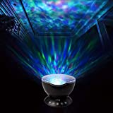 Ocean Wave Projector Kids Night Light Music Player Mood Lamp With 7 Multicolor Remote Control Build in Timer Auto Shut-off for Party Show Kid Baby Bedroom Nurse Room As Birsthday Gift