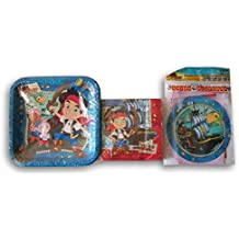 Jake and the Neverland Pirates Themed Party Supply Kit - Plates, Napkins, and Banner