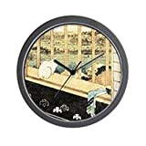 CafePress - Japanese Painting Of Cat At The Window - Unique Decorative 10'' Wall Clock