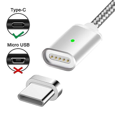 USB Tipo C Cable de carga magnético,Lively Life USB-A Adaptador USB-C Cargador Sincronización de alta velocidad de transferencia de datos de nylon ...