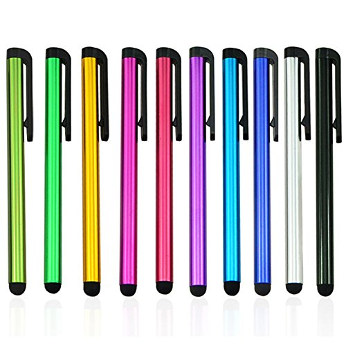5pack Multi Color Universal Small Touch Stylus Metal Pen for Mobile Phone Cell Smart Phone Tablet iPad iPhone (Multi Color - 5pcs) ()