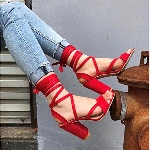 alta y four Thirty sandalias zapatos Donyyyy vendaje mujer de de grandes verano de astilleros zwxZAT4
