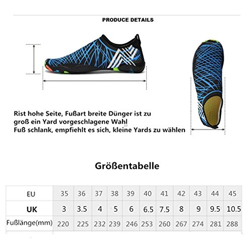 Highdas Water Shoes Mens Womens Quick Dry Sports Aqua Shoes Unisex Swim Shoes for Swim,Walking,Yoga,Lake,Beach,Garden,Park,Driving,Boating Color 2
