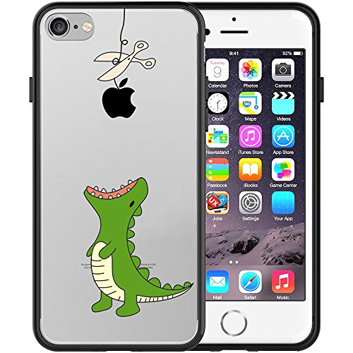 iphone-7-case-swiftbox-clear-black-case-with-design-for-iphone-7-green-little-dinosaur
