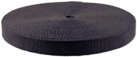 Super Heavy Polypro Webbing | Closeout (10 Yards, Black) Unknown