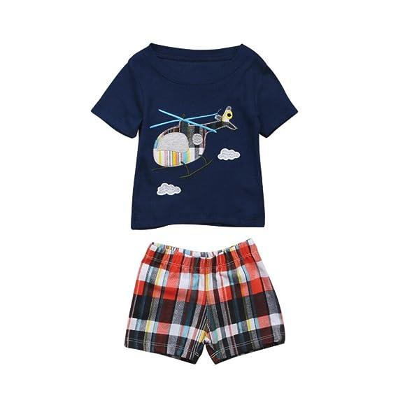 PAOLIAN Conjuntos de ropa para recién nacidos bebé niños Verano ...